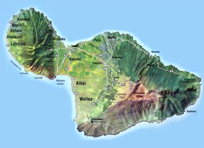 Topographic Map Of Maui.Maui Lokelani Unit B 204 Travel Tips